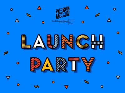 BSOMA Launch Party Branding modern funky school education children kids non-profit design non-profit arts access music