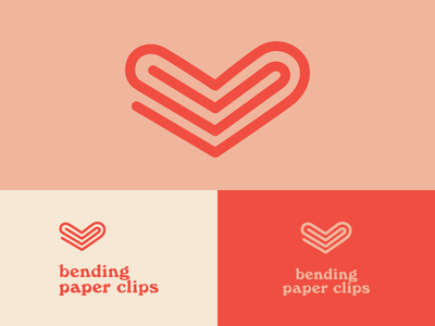 Bending Paper Clips Logo + Icon Design brand branding old school sex ed sexual health heart typography iconography icon mark logo design logo