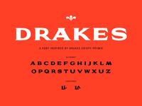 Drakes Typeface Design, 2017