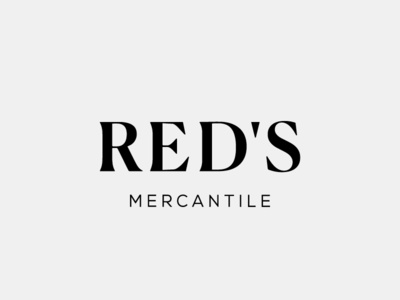 Red's Mercantile Logo Design, 2018 boutique small business retail brand assets branding typography design logo design logo