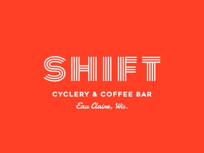 Shift Cyclery & Coffee Bar Branding + Logo Design, 2017 coffee bar biking cycling coffee coffee shop script brand logo design logo design lettering branding typography