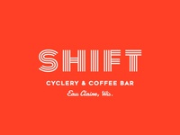 Shift Cyclery & Coffee Bar Branding + Logo Design, 2017