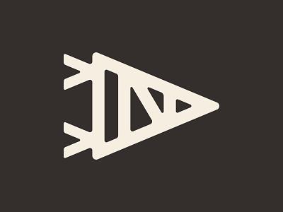 Neighborhood Print Co. triangle monoline simple branding n thick lines pennant logo
