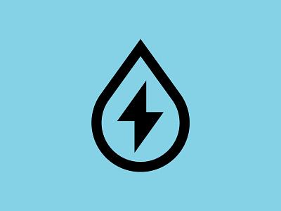 Midtown Power Washers logomark identity water blue pressure wash power wash bolt drop clean wash branding logo