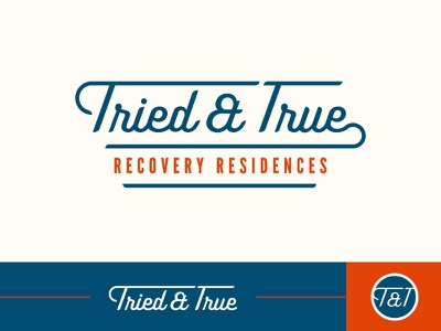 Tried And True Logo branding type logo