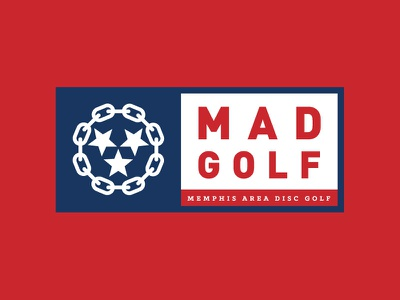 Memphis Area Disc Golf chains golf disc memphis tennessee logo