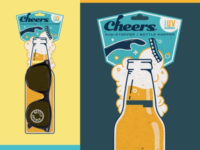 Cheers Sunglasses Packaging shades beverage bottle top beer packaging bottle opener sunglasses