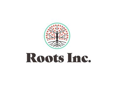 Roots Inc. jackson woman feminine nature leaves roots tree female logo mark tennessee illustration identity branding logo