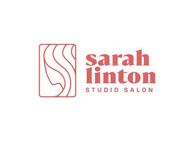 Sarah Linton logo concept salon studio hair identity branding logo