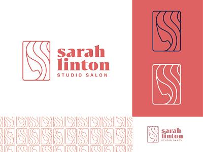 Sarah Linton logo concept hair salon studio hair identity branding logo