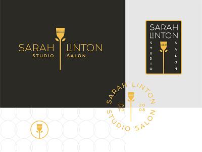 Sarah Linton studio salon hair color beauty hair salon hair branding logomark logo