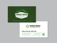 Timock Family Orthodontics Business Card