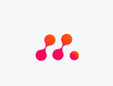 Mega Molecules Logo icon illustrations vector brandmark logo illustrator branding design