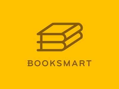 Booksmart  identity logo booksmart book books mark