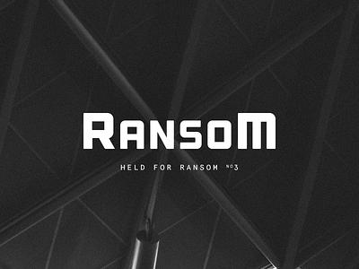 Held for Ransom 3  logomark mark white black ransom font black and white typography logotype