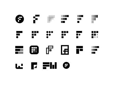 F logos (WIP for client) typography design letter f f letter lettermark branding identity branding identity lettering monogram monograms logo design logotype f logo logo