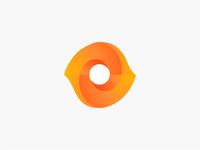Orange round logo