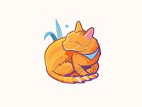 Sunshine cat illustration