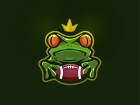 Frog illustration logo
