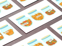 Business card with illustration pasta