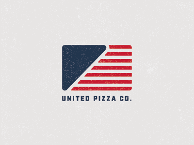 United Pizza Co. Logo usa united identity pizza logo