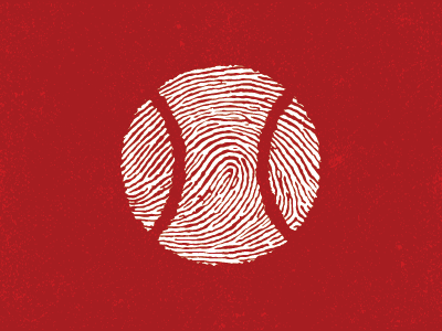 Leave Your Mark On The Game thumb identity finger red game ball mark logo finger print sports baseball