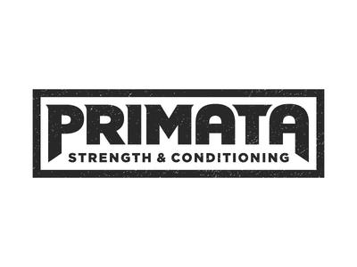Primata bold strength logotype type logo fitness