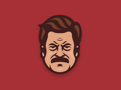 Ron Swanson eggs bacon man avatar pin swanson ron