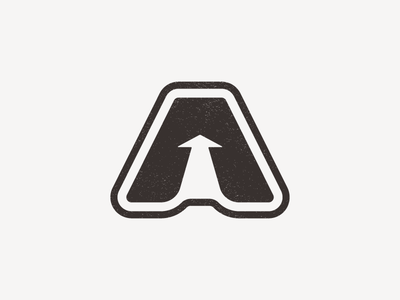 """""""A"""" is for Aisle negative space arrow perspective aisle branding logo a"""