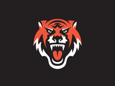 Tiger cat animal logo sports mascot tiger