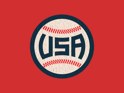 USA Baseball ball retro vintage sports america usa baseball