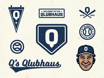 Q's Qlubhaus q sports blog baseball brand elements branding logo
