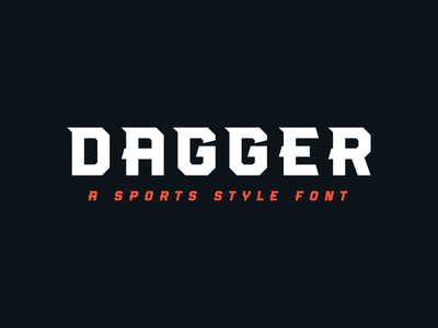 Dagger Font sports type type dagger sport sports font sports font