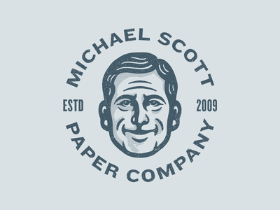 Michael Scott mascot character illustration avatar mike office steve carell paper dunder mifflin michael scott the office