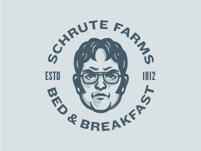 Dwight Schrute dunder mifflin mascot character illustration avatar illustration bed and breakfast farm schrute farms schrute dwight schrute dwight the office
