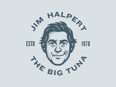 "Jim ""Big Tuna"" Halpert mascot illustration avatar character illustration character tuna big tuna jim halpert jim dunder mifflin office the office"