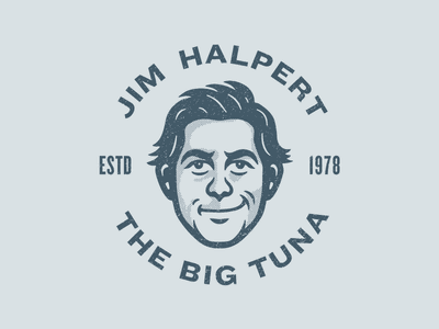 "Jim ""Big Tuna"" Halpert mascot illustration avatar character illustration character tuna big tuna jim halpert jim dunder mifflin office the office"