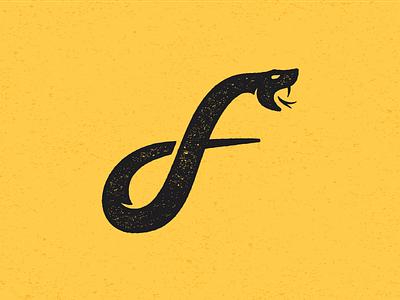 """""""F"""" Snake snakes branding design illustration logo design logo snake logo f logo snake f"""