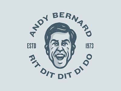 Andy Bernard logo badge design avatar character design character illustration andy bernard andy dunder mifflin the office