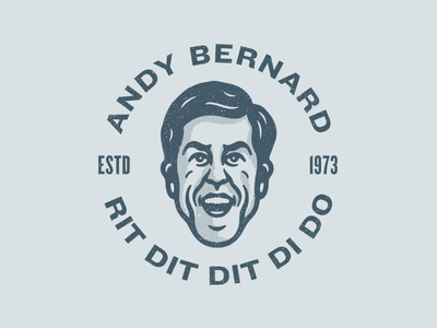 Andy Bernard logo badge design avatar character design character illustration andy bernard andy dunder mifflin the office
