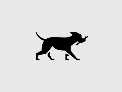 Fetch K9 illustration logo k9 silhouette stick fetch dog illustration dog icon dog logo animal logo animal dog