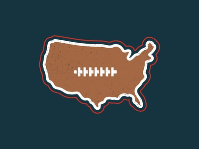 United Gridiron badge apparel design map laces football american football america usa sports
