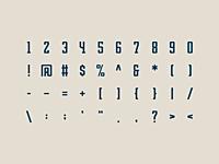 Zero Font by Mark Farris on Dribbble