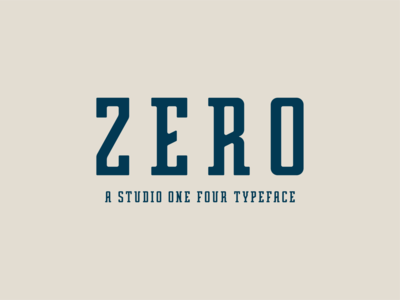Zero Font