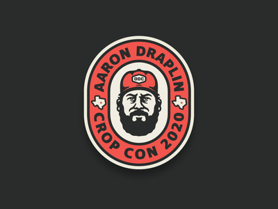 Draplin Badge dribbble contest aaron draplin texas icon head thick thick lines logo illustration crop con badge ddc draplin