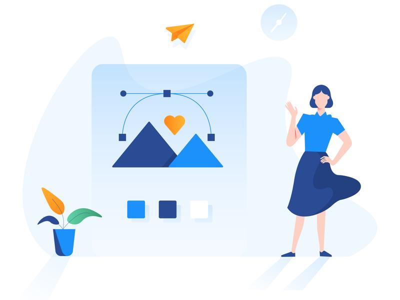 A Designer designer character illustration pack icon design vector illustration
