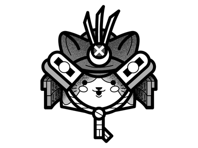 Cat Samurai Study (2) xmen wolverine tattoo samurai japanese japan illustrator concept cat