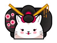 Cat Geisha Cherry Blossom