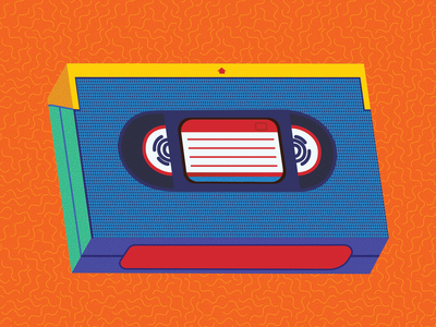 VHS Tape vhs branding vector concept design illustration