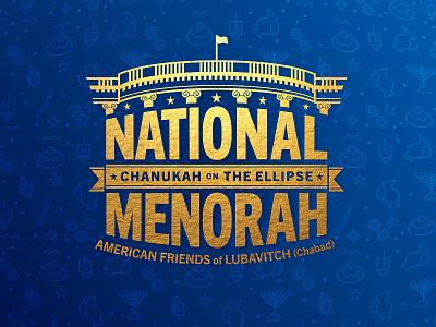 The National Menorah washington menorah white house chanukah hanukkah branding logo